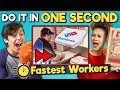 Try to Complete In One Second Challenge (Fastest Workers)