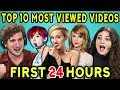 COLLEGE KIDS REACT TO TOP 10 MOST VIEWED YOUTUBE VIDEOS OF ALL TIME (First 24 Hours)