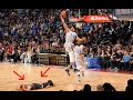 Steph Curry lays down during NBA All Star Game so he doesn't get dunked on by Giannis Antetokounmpo